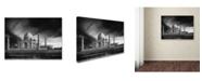 "Trademark Global Piet Flour 'The Banks Of The Jamuna River' Canvas Art - 47"" x 35"" x 2"""