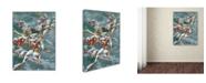 "Trademark Global Wanda Mumm 'Junco And Crab Apple' Canvas Art - 47"" x 35"" x 2"""