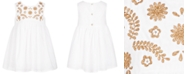 First Impressions First Impression's Baby Girl's Embroidered Dress Set, Created for Macy's
