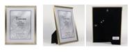 "Lawrence Frames Antique Brass Picture Frame - Bead Border Design - 8"" x 10"""
