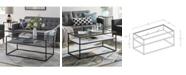 Walker Edison Modern Reversible Shelf Coffee Table