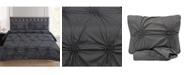 Sweet Home Collection Sensation Ruched Fancy Floral Pintuck King 3-Pc Duvet Set