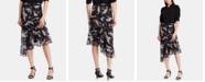 Lauren Ralph Lauren Petite Asymmetrical Floral-Print Skirt