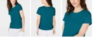 Eileen Fisher Organic Cotton Crewneck T-Shirt, Regular & Petite