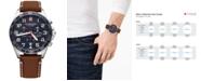 Victorinox Swiss Army Men's Chronograph FieldForce Brown Leather Strap Watch 42mm