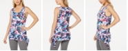 Ideology Floral-Print Side-Tie Tank Top, Created for Macy's