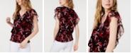 INC International Concepts INC Smocked-Hem Ruffled Top, Created for Macy's