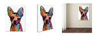 "Trademark Global Michael Tompsett 'Chihuahua Dog White' Canvas Art - 14"" x 19"""