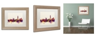 "Trademark Global Michael Tompsett 'Hong Kong Skyline' Matted Framed Art - 11"" x 14"""