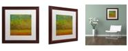 """Trademark Global Michelle Calkins 'Golden Dawn' Matted Framed Art - 16"""" x 16"""""""