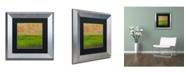 """Trademark Global Michelle Calkins 'Summer Fields' Matted Framed Art - 11"""" x 11"""""""