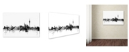 "Trademark Global Michael Tompsett 'Berlin Germany Skyline B&W' Canvas Art - 12"" x 19"""