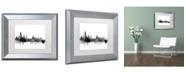"""Trademark Global Michael Tompsett 'Albany New York Skyline B&W' Matted Framed Art - 11"""" x 14"""""""