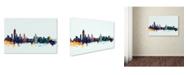 "Trademark Global Michael Tompsett 'Albany New York Skyline Blue' Canvas Art - 12"" x 19"""