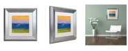 "Trademark Global Michelle Calkins 'Thistle Field' Matted Framed Art - 11"" x 11"""