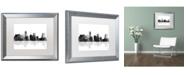 "Trademark Global Marlene Watson 'Miami Florida Skyline BG-1' Matted Framed Art - 16"" x 20"""