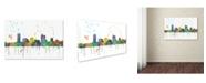 "Trademark Global Marlene Watson 'Milwaukee Wisconsin Skyline Mclr-1' Canvas Art - 12"" x 19"""