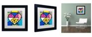 "Trademark Global Roberto Rafael 'Big Heart II' Matted Framed Art - 11"" x 11"""