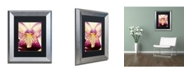 "Trademark Global PIPA Fine Art 'Antiqued Iris' Matted Framed Art - 11"" x 14"""