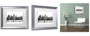 "Trademark Global Marlene Watson 'Fort Worth Texas Skyline BG-2' Matted Framed Art - 16"" x 20"""