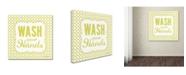 "Trademark Global Stephanie Marrott 'Wash' Canvas Art - 14"" x 14"""