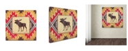 "Trademark Global Stephanie Marrott 'Moose Blanket' Canvas Art - 14"" x 14"""