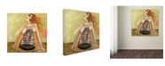 "Trademark Global Wyanne 'Big Eyed Girl If You Love Something' Canvas Art - 14"" x 14"""