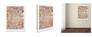 "Trademark Global Michael Tompsett 'Dublin Ireland City Map VI' Canvas Art - 14"" x 19"""