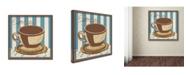 "Trademark Global Masters Fine Art 'Espresso Blue' Canvas Art - 14"" x 14"""