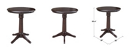 "WHITEWOOD INDUSTRIES/INTNL CONCEPTS International Concepts 30"" Round Top Pedestal Table- 34.9""H"