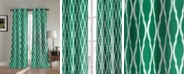 "Duck River Textile Kittattinny 38"" x 112"" Trellis Print Blackout Curtain Set"