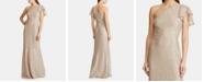 Lauren Ralph Lauren Single-Shoulder Lace Gown