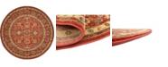 Bridgeport Home Orwyn Orw1 Red 6' x 6' Round Area Rug