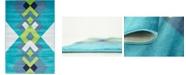 Bridgeport Home Politan Pol2 Turquoise 4' x 6' Area Rug