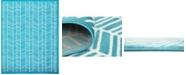 Bridgeport Home Politan Pol1 Turquoise 8' x 10' Area Rug