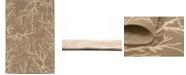 Bridgeport Home Pashio Pas6 Brown 4' x 6' Area Rug