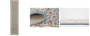 Bridgeport Home Zara Zar1 Blue 3' x 13' Runner Area Rug