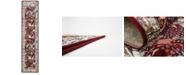 Bridgeport Home Zara Zar3 Burgundy 3' x 13' Runner Area Rug