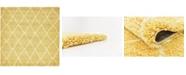 Bridgeport Home Fazil Shag Faz3 Yellow 8' x 8' Square Area Rug
