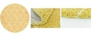 Bridgeport Home Fazil Shag Faz3 Yellow 8' x 8' Round Area Rug
