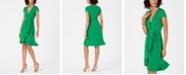 Jessica Howard Ruffled Faux-Wrap Dress