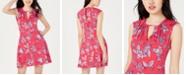 Be Bop Juniors' Printed Keyhole A-Line Dress