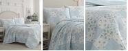 Laura Ashley Kenna Blue Quilt Set, Twin