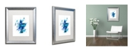 "Trademark Global Michael Tompsett 'Scotland Paint Splashes Map II' Matted Framed Art - 16"" x 20"""