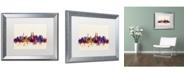 "Trademark Global Michael Tompsett 'Kuala Lumpur Malaysia Skyline' Matted Framed Art - 16"" x 20"""