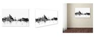 "Trademark Global Michael Tompsett 'New York Skyline B&W' Canvas Art - 16"" x 24"""
