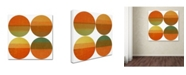 "Trademark Global Michelle Calkins 'Four Suns' Canvas Art - 18"" x 18"""