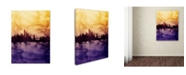 "Trademark Global Michael Tompsett 'New York Skyline Tall Yellow' Canvas Art - 18"" x 24"""