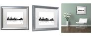 "Trademark Global Marlene Watson 'Salem Oregon Skyline BG-1' Matted Framed Art - 16"" x 20"""