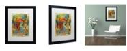 "Trademark Global Shana Doumingez 'Toy of a Cosmic Child' Matted Framed Art - 16"" x 20"""
